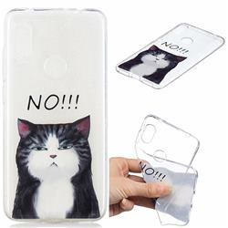 Cat Say No Clear Varnish Soft Phone Back Cover for Mi Xiaomi Redmi Note 6