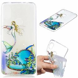 Mermaid Clear Varnish Soft Phone Back Cover for Mi Xiaomi Redmi Note 6
