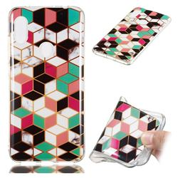 Three-dimensional Square Soft TPU Marble Pattern Phone Case for Mi Xiaomi Redmi Note 6