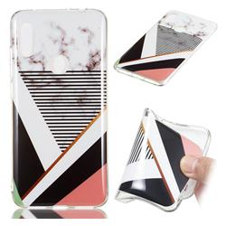 Pinstripe Soft TPU Marble Pattern Phone Case for Mi Xiaomi Redmi Note 6