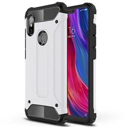 King Kong Armor Premium Shockproof Dual Layer Rugged Hard Cover for Mi Xiaomi Redmi Note 6 - White