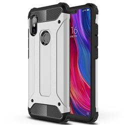 King Kong Armor Premium Shockproof Dual Layer Rugged Hard Cover for Mi Xiaomi Redmi Note 6 - Technology Silver