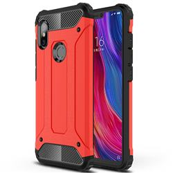 King Kong Armor Premium Shockproof Dual Layer Rugged Hard Cover for Mi Xiaomi Redmi Note 6 - Big Red
