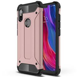 King Kong Armor Premium Shockproof Dual Layer Rugged Hard Cover for Mi Xiaomi Redmi Note 6 - Rose Gold