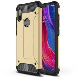 King Kong Armor Premium Shockproof Dual Layer Rugged Hard Cover for Mi Xiaomi Redmi Note 6 - Champagne Gold