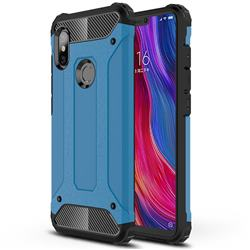King Kong Armor Premium Shockproof Dual Layer Rugged Hard Cover for Mi Xiaomi Redmi Note 6 - Sky Blue