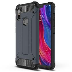 King Kong Armor Premium Shockproof Dual Layer Rugged Hard Cover for Mi Xiaomi Redmi Note 6 - Navy