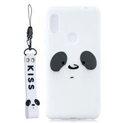 White Feather Panda Soft Kiss Candy Hand Strap Silicone Case for Mi Xiaomi Redmi Note 6