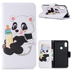 Baby Panda Leather Wallet Case for Mi Xiaomi Redmi Note 6