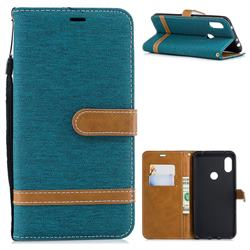 Jeans Cowboy Denim Leather Wallet Case for Mi Xiaomi Redmi Note 6 - Green