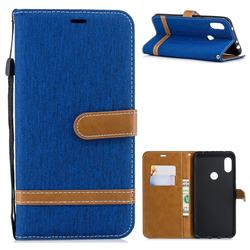 Jeans Cowboy Denim Leather Wallet Case for Mi Xiaomi Redmi Note 6 - Sapphire
