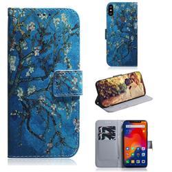 Apricot Tree PU Leather Wallet Case for Mi Xiaomi Redmi Note 6