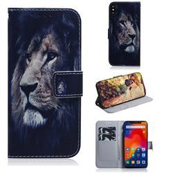 Lion Face PU Leather Wallet Case for Mi Xiaomi Redmi Note 6