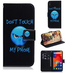 Not Touch My Phone PU Leather Wallet Case for Mi Xiaomi Redmi Note 6