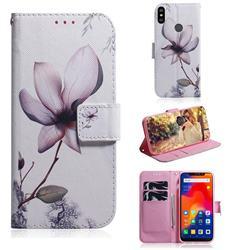 Magnolia Flower PU Leather Wallet Case for Mi Xiaomi Redmi Note 6
