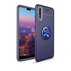 Auto Focus Invisible Ring Holder Soft Phone Case for Mi Xiaomi Redmi Note 6 Pro - Blue