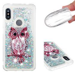 Seashell Owl Dynamic Liquid Glitter Quicksand Soft TPU Case for Mi Xiaomi Redmi Note 6 Pro