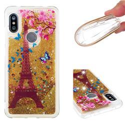 Golden Tower Dynamic Liquid Glitter Quicksand Soft TPU Case for Mi Xiaomi Redmi Note 6 Pro