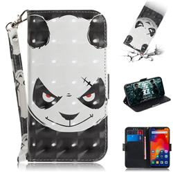 Angry Bear 3D Painted Leather Wallet Phone Case for Mi Xiaomi Redmi Note 6 Pro