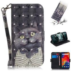 Cat Embrace 3D Painted Leather Wallet Phone Case for Mi Xiaomi Redmi Note 6 Pro