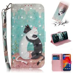 Black and White Cat 3D Painted Leather Wallet Phone Case for Mi Xiaomi Redmi Note 6 Pro