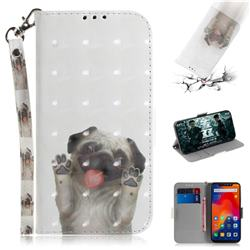 Pug Dog 3D Painted Leather Wallet Phone Case for Mi Xiaomi Redmi Note 6 Pro