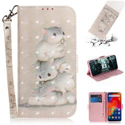 Three Squirrels 3D Painted Leather Wallet Phone Case for Mi Xiaomi Redmi Note 6 Pro