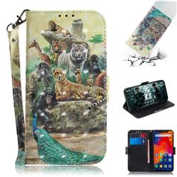 Beast Zoo 3D Painted Leather Wallet Phone Case for Mi Xiaomi Redmi Note 6 Pro