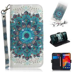 Peacock Mandala 3D Painted Leather Wallet Phone Case for Mi Xiaomi Redmi Note 6 Pro