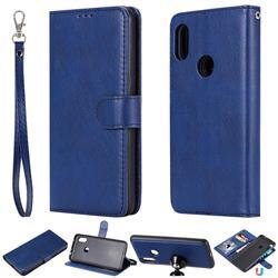 Retro Greek Detachable Magnetic PU Leather Wallet Phone Case for Mi Xiaomi Redmi Note 6 Pro - Blue