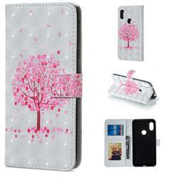 Sakura Flower Tree 3D Painted Leather Phone Wallet Case for Mi Xiaomi Redmi Note 6 Pro