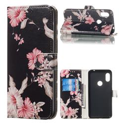 Azalea Flower PU Leather Wallet Case for Mi Xiaomi Redmi Note 6 Pro