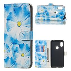 Orchid Flower PU Leather Wallet Case for Mi Xiaomi Redmi Note 6 Pro