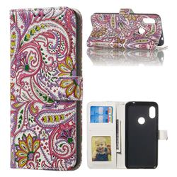 Pepper Flowers 3D Relief Oil PU Leather Wallet Case for Mi Xiaomi Redmi Note 6 Pro