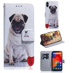 Pug Dog PU Leather Wallet Case for Mi Xiaomi Redmi Note 6 Pro