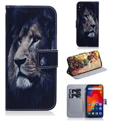 Lion Face PU Leather Wallet Case for Mi Xiaomi Redmi Note 6 Pro