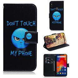Not Touch My Phone PU Leather Wallet Case for Mi Xiaomi Redmi Note 6 Pro