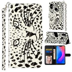 Leopard Panther 3D Leather Phone Holster Wallet Case for Mi Xiaomi Redmi Note 6 Pro