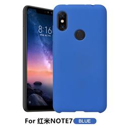 Howmak Slim Liquid Silicone Rubber Shockproof Phone Case Cover for Xiaomi Mi Redmi Note 7 / Note 7 Pro - Sky Blue