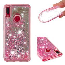Dynamic Liquid Glitter Quicksand Sequins TPU Phone Case for Xiaomi Mi Redmi Note 7 / Note 7 Pro - Rose