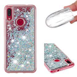 Dynamic Liquid Glitter Quicksand Sequins TPU Phone Case for Xiaomi Mi Redmi Note 7 / Note 7 Pro - Silver