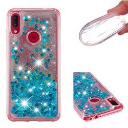Dynamic Liquid Glitter Quicksand Sequins TPU Phone Case for Xiaomi Mi Redmi Note 7 / Note 7 Pro - Blue