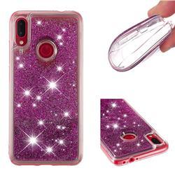 Dynamic Liquid Glitter Quicksand Sequins TPU Phone Case for Xiaomi Mi Redmi Note 7 / Note 7 Pro - Purple