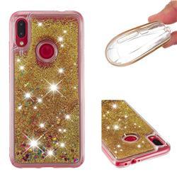Dynamic Liquid Glitter Quicksand Sequins TPU Phone Case for Xiaomi Mi Redmi Note 7 / Note 7 Pro - Golden