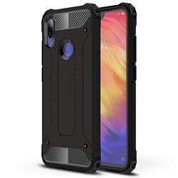 King Kong Armor Premium Shockproof Dual Layer Rugged Hard Cover for Xiaomi Mi Redmi Note 7 / Note 7 Pro - Black Gold