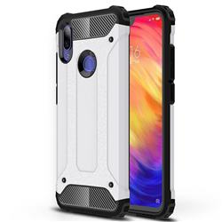 King Kong Armor Premium Shockproof Dual Layer Rugged Hard Cover for Xiaomi Mi Redmi Note 7 / Note 7 Pro - White