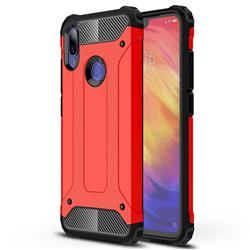 King Kong Armor Premium Shockproof Dual Layer Rugged Hard Cover for Xiaomi Mi Redmi Note 7 / Note 7 Pro - Big Red