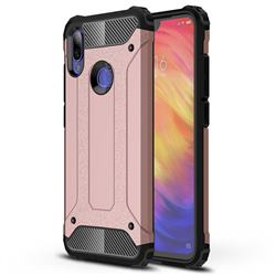 King Kong Armor Premium Shockproof Dual Layer Rugged Hard Cover for Xiaomi Mi Redmi Note 7 / Note 7 Pro - Rose Gold
