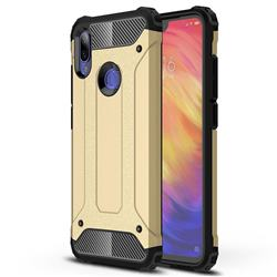 King Kong Armor Premium Shockproof Dual Layer Rugged Hard Cover for Xiaomi Mi Redmi Note 7 / Note 7 Pro - Champagne Gold