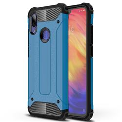 King Kong Armor Premium Shockproof Dual Layer Rugged Hard Cover for Xiaomi Mi Redmi Note 7 / Note 7 Pro - Sky Blue
